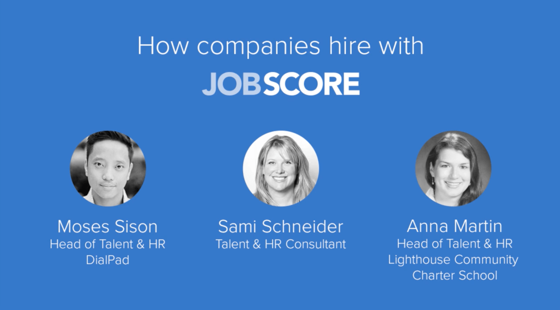 Video reviews of top companies using JobScore Applicant Tracking System.