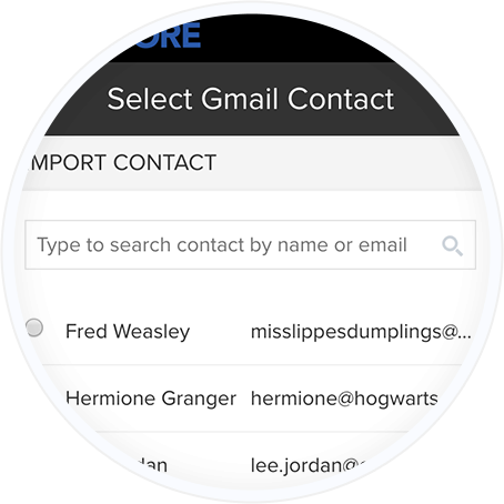 Adding a contact by email through the employee referral portal