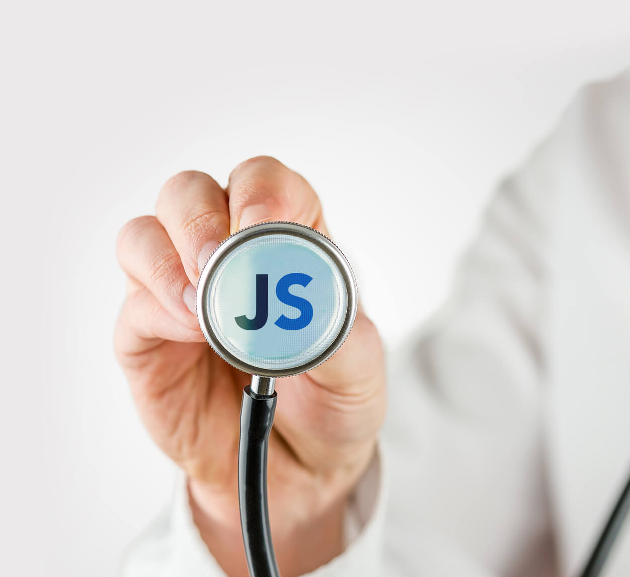 Doctor with stethoscope that has the JobScore logo on it | JobScore Top Applicant Tracking System