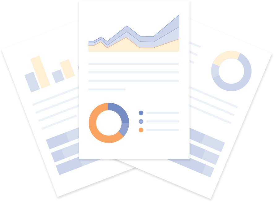 3 pieces of paper with analytics and graphs on them | JobScore Applicant Tracking System