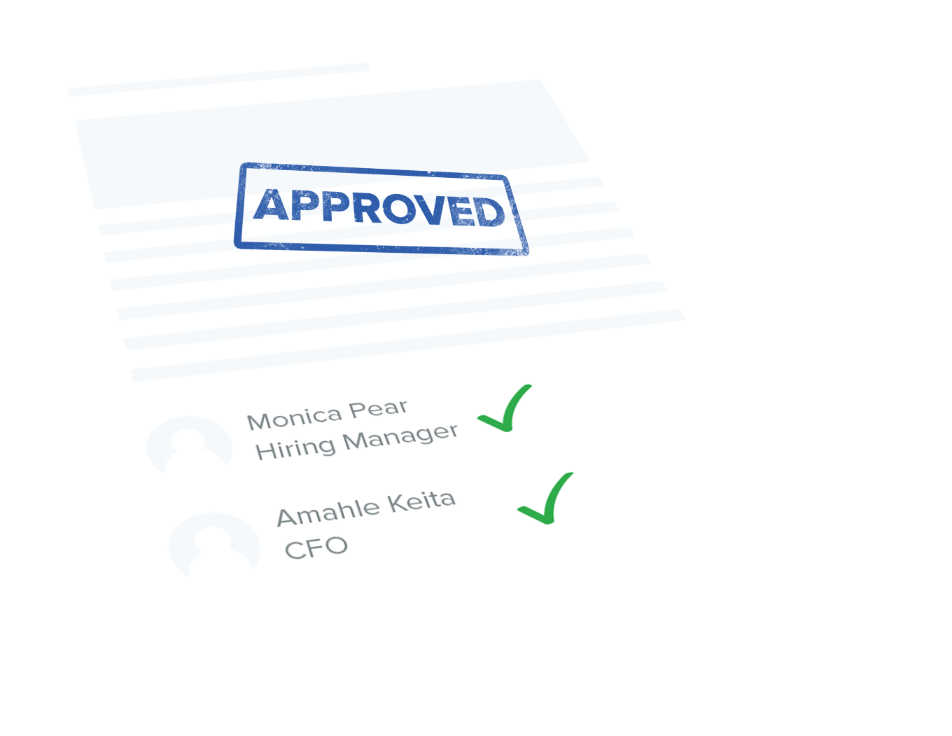Piece of paper with an approved stamp on it | JobScore Top Applicant Tracking System